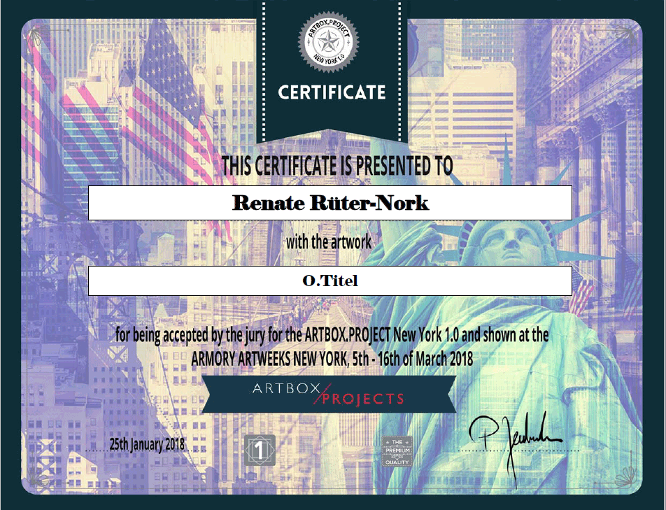 Certficate New-York 2018