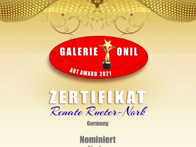 Nominierung Onil Art Award 2021