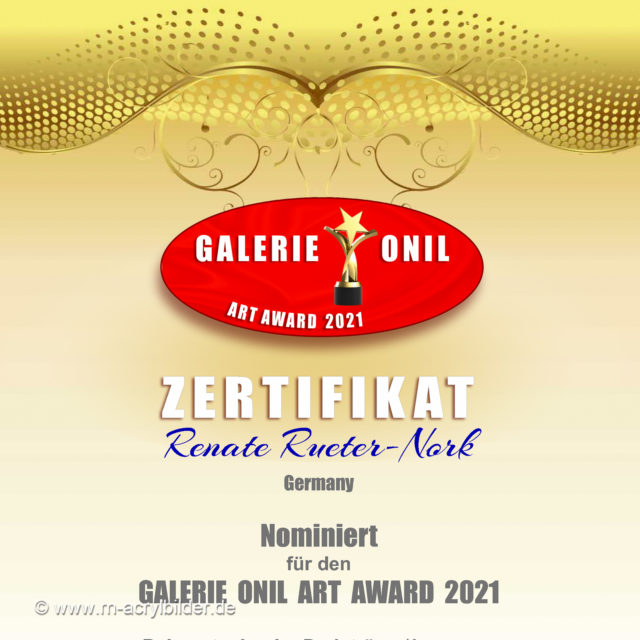 Nominierung Onil Art Award 2021